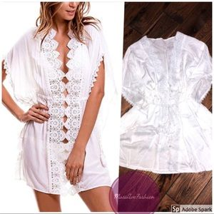 White Lace Swim Coverup